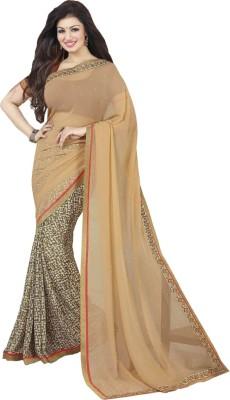 Nena Fashion Solid Daily Wear Georgette Sari