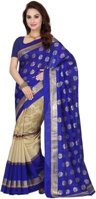 Ishin Printed Fashion Art Silk Saree(Multicolor) at flipkart