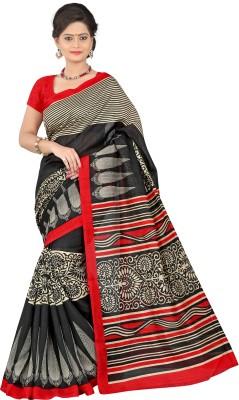 Sai Fabrics Geometric Print Bhagalpuri Banarasi Silk Sari