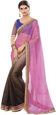 Imago Embriodered, Self Design Fashion Net, Silk Sari