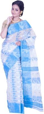 Jhumya Woven Jamdani Handloom Silk Sari