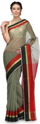 Bunkar Striped Banarasi Cotton Sari