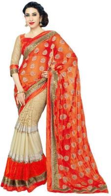 Fenali Fashion Embriodered Bollywood Handloom Chiffon Sari