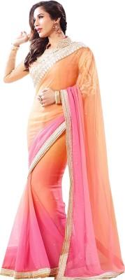 Darkroom Self Design Bollywood Crepe Sari