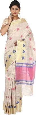Sevensquare Self Design Banarasi Linen Sari