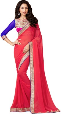 Aarti Saree Embriodered Fashion Georgette Sari