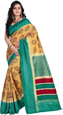 Bapa Sitaram Prints Printed Bhagalpuri Tussar Silk Sari