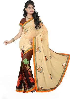 Renishafashion Embriodered Bollywood Georgette Sari