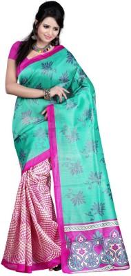 The Fancy Sarees Floral Print Mysore Silk Sari