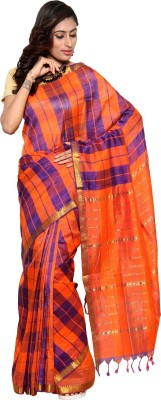 Urban Village Self Design Mangalagiri Handloom Cotton Sari
