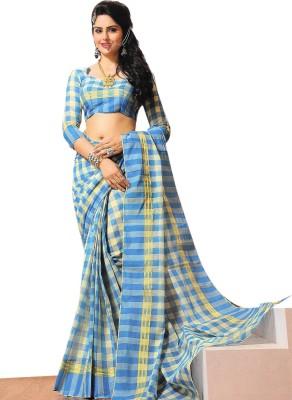 Kaveri Checkered Fashion Cotton Sari