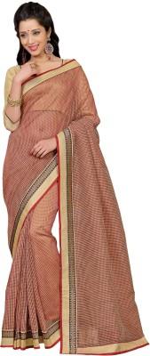 Vonage Checkered Bollywood Linen Sari