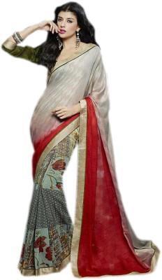 KL COLLECTION Floral Print, Graphic Print Fashion Lycra Sari