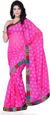 Ruda Self Design Fashion Handloom Jacquard Sari
