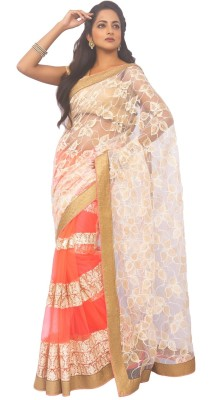 Zorbain Style Self Design Fashion Net Sari
