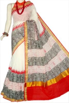 MCLS FASHION Hand Painted, Printed Fashion Cotton Sari