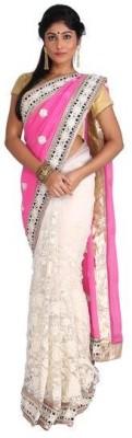 Nav Durga Applique, Embellished Daily Wear Handloom Art Silk Sari