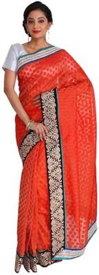 Nav Durga Applique, Embriodered, Woven Banarasi Art Silk Sari