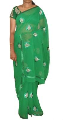 ARCHAN Self Design Fashion Chiffon Sari