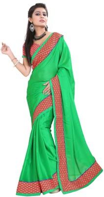 Sareeka Sarees Plain Bollywood Satin Sari