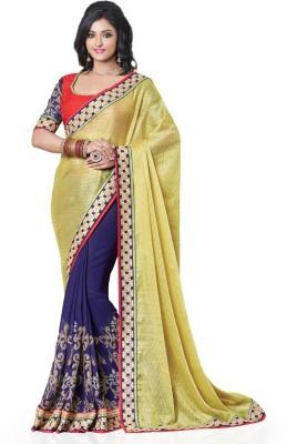 Style Merger Embriodered Fashion Viscose Sari