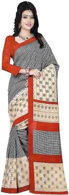 TrulyDesi Self Design Mysore Silk Sari