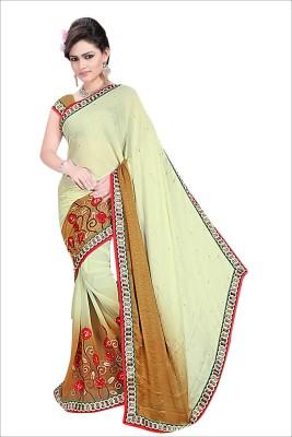 natraj Embriodered Bollywood Georgette Sari