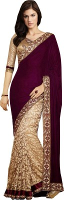 JS Pavitra Fabrics Embriodered Fashion Velvet Sari