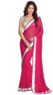 Reena Creation Self Design Fashion Georgette Sari