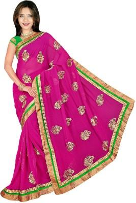Chinco Self Design Bollywood Georgette Sari