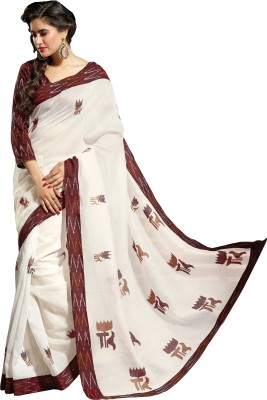 Shama Embriodered Patola Handloom Cotton Sari