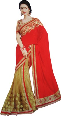 Shaarada Embellished Fashion Net, Georgette Sari
