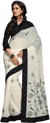 Fabdeal Self Design Fashion Cotton Sari