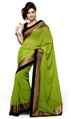 Abretail Self Design Fashion Handloom Georgette Sari