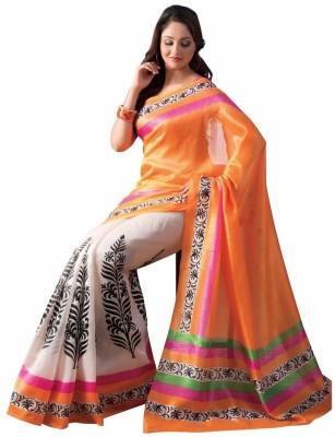 Hanscreation Printed Bollywood Art Silk Sari
