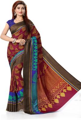 Right Shape Printed Mysore Art Silk Sari