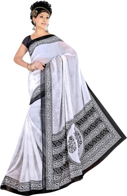 Reena Creation Printed Fashion Synthetic Chiffon Sari
