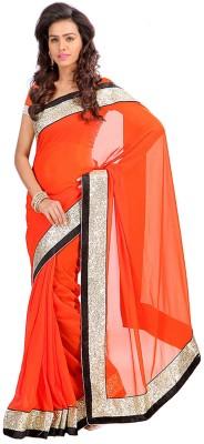 Greenvilla Designs Self Design Fashion Silk Sari
