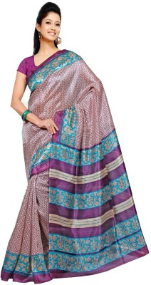 Fashion Now Printed Bhagalpuri Chanderi, Silk Sari