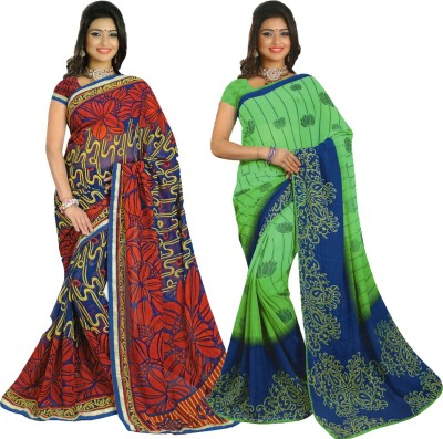 Mahrokh Printed Fashion Georgette Sari