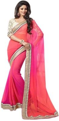 yanatextile Solid Daily Wear Georgette Sari