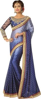 Daksh Enterprise Embriodered Daily Wear Satin, Chiffon Sari