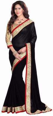 Sonal Trendz Self Design Fashion Synthetic Chiffon Sari