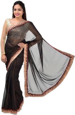 Om Shantam Saree's Plain Fashion Georgette Sari