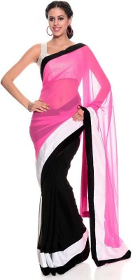Frocksme Self Design Bollywood Pure Chiffon Sari