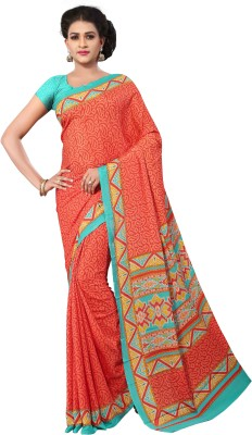 Anoha Solid Fashion Crepe Sari