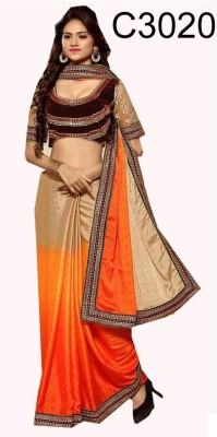 FabTexo Embriodered Fashion Jacquard Sari