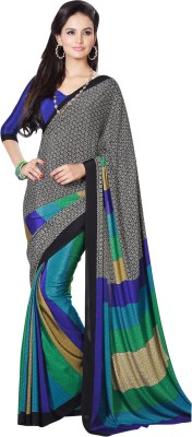 Brijraj Printed Fashion Crepe Sari