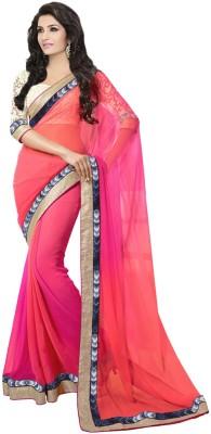 Supriya Fashion Self Design Bollywood Georgette Sari