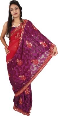 Shree Ji Embriodered Daily Wear Brasso Sari